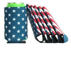 American Flag Koozie by Collared Greens