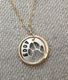 Originally created for an auction at the Human Society, this necklace became a popular custom design to honor, or remember, furry friends. #pets #love
