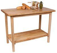John Boos KU Town House Table 42-inchx30-inch by John Boos. $609.00. With a 1-1/2 thick top made of laminated hard rock maple and a similarly-constructed lower shelf, this looks more like a table than a cutting board, but the functionality is perfect for most kitchens. Options