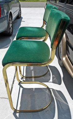 Green Velvet Amp Yellow Gold Bar Stools Need To Purhcase