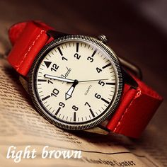 I am so happy to find the fashion roman big dial leather belt retro watch from ByGoods.com. I like it <3!Do you like it,too?