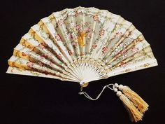 Exquisitely embroidered fan