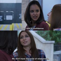 Brooklyn Nine-Nine - Amy Santiago: I told you that in confidence. Gina Linetti: We don't have that kind of relationship. Watch Brooklyn Nine Nine, Funny Memes, Hilarious, Film Quotes, Daily Memes, Series Movies, Best Shows Ever, Rookie Blue, Funny Photos