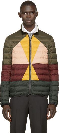 Valentino: Multicolor Down Jacket   SSENSE
