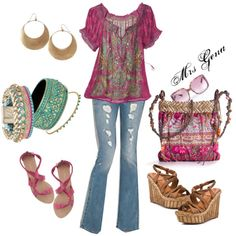 Reminds me of my style in my 20s- I want more tops like this again... Gypsy Rose, created by mrsgena on Polyvore