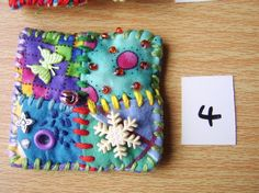 Patchwork brooch number 4 by MrsBellybuttonsfluff on Etsy, $12.00