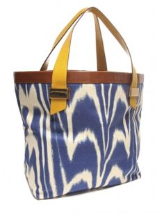 Ikat Tote- bright and happy colors