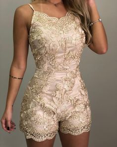 Swans Style is the top online fashion store for women. Shop sexy club dresses, jeans, shoes, bodysuits, skirts and more. Party Fashion, Cute Fashion, Wedding Rompers, Skirt Outfits, Cute Outfits, Golden Dress, Party Mode, Summer Work Outfits, Mode Style