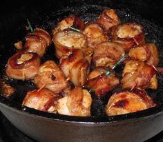 dutch oven bacon chicken nuggets recipe - minus teriyaki for keto Fire Cooking, Cast Iron Cooking, Oven Cooking, Cooking Lamb, Skillet Cooking, Cooking Bacon, Cooking Turkey, Cooking Oil, Cooking Light