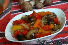 Salata de toamna (salata de bureti) Pot Roast, Backyard, Beef, Chicken, Ethnic Recipes, Food, Salads, Carne Asada, Meat