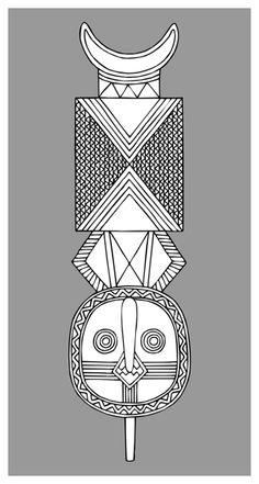 Bwa Mask Line Drawing