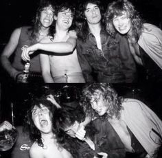Metallica with Dave Mustaine and Cliff Burton!
