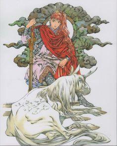 Akihiro Yamada The Twelve Kingdoms Manga Art, Anime Manga, Anime Art, The Twelve Kingdoms, Character Art, Character Design, The Last Unicorn, Old Anime, Arte Popular