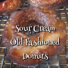 Sour Cream Old Fashioned Donuts