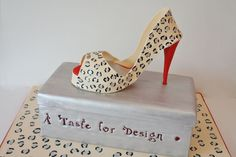 Birthday Cakes New Jersey - Leopard Shoe and Box Custom Cakes