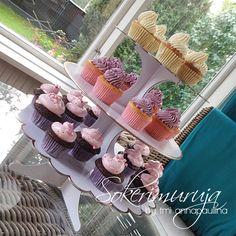 Sokerimuruja : Mini kuppikakut 30-vuotissynttäreille! / Mini Cup Cakes for a Birthday party! Carrot / Chocolate / Vanilla <3   The cupcake stand is from www.popupkemut.fi