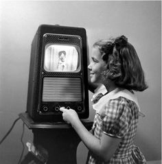 Television set, 1948 - One of the very first! I actually saw one of these in the early 50's... really poor reception on it in Schenectady NY