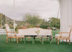 Reception seating area at this country club..  Read more - http://www.stylemepretty.com/2013/11/19/scottsdale-wedding-from-melissa-schollaert-victoria-canada-weddings-events/