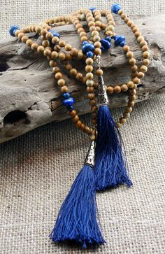 Boho Tassel Lariat Necklace Navy blue lapis by MMDJewellery Lariat Necklace, Tassels, Navy Blue, Jewellery, Boho, Trending Outfits, Unique Jewelry, Handmade Gifts, Etsy