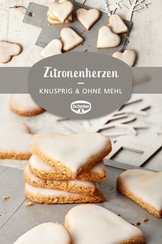 lemon hearts- Lemon hearts: Crunchy cookies with ground almonds but without flour baking cookies French Dessert Recipes, Italian Cookie Recipes, Italian Desserts, Affogato Recipe, Gelato Recipe, Best Summer Desserts, Kinds Of Desserts, Italian Ice Cream, Pistachio Ice Cream