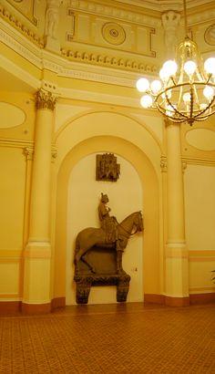 Múzeum - Dome hall - Szeged Hungary, Lion Sculpture, Paintings, Statue, Decor, Decoration, Decorating, Paint, Painting Art