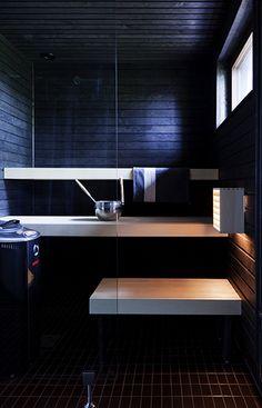 Tiikerikuva Sauna Design, Saunas, Archipelago, Bathroom Ideas, Toilet, Master Bedroom, Decorating Ideas, Yard, Houses