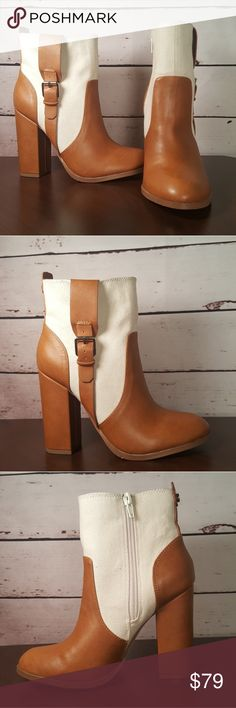"""Athena Alexander """"Layla"""" ankle boots size US 6 Athena Alexander """"Layla"""" Women's ?size US 6 ankle booties flaunt a classic mixed upper with boots straps. Textile and man-leather upper pull-on style with hidden zip-closure. Round toe and chunky 4"""" heels. ?Brand new without original box. Athena Alexander Shoes Ankle Boots & Booties"""