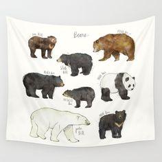 Bears Wall Tapestry by Amy Hamilton | Society6