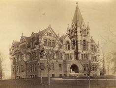 Historic photo from 1890 - Victoria College - also know as Old Vic in University of Toronto (U of T)