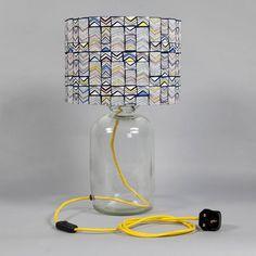 Polygon Window Yellow Demijohn Lamp