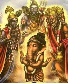 Guidance, from the Whispers Of Lord Ganesha, by Angela Heartfield, artwork by Ekaterina Golovanova Shiva Art, Ganesha Art, Shiva Shakti, Hindu Art, Kali Shiva, Baby Ganesha, Ganesh Idol, Om Namah Shivaya, Om Gam Ganapataye Namaha