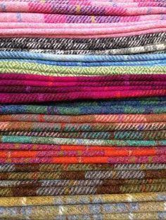 Harris Tweed. Colored tweeds. Love.