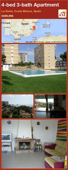 4-bed 3-bath Apartment in La Zenia, Costa Blanca, Spain ►€299,995 #PropertyForSaleInSpain