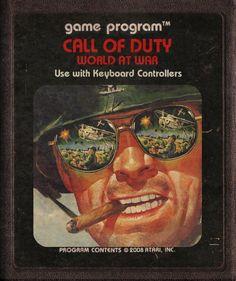 Call of Duty as #Atari cartridge by StarRoivas