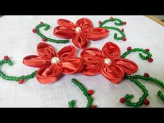 YouTube Ribbon Embroidery, Embroidery Designs, Ribbon Work, Satin Fabric, Fabric Flowers, Needlework, Hands, Frame, Youtube