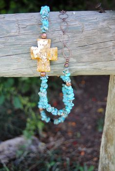 Western Cross, Chunky Cowgirl Jewelry. $65.00, via Etsy.