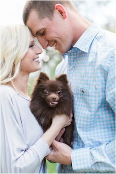 Engagement Photos with Pet Dog at Barnsley Gardens Resort by Lindsey LaRue