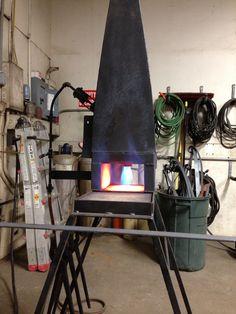 Johnny Tacherra home made forge.
