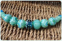 https://flic.kr/p/sj3Z3X   Beadset Minty   Beadset in Mint, blue and white with a hint of green