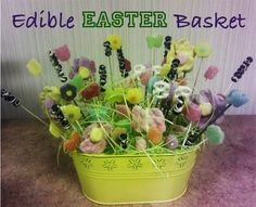 How to make DIY Edible Easter Baskets! #easter #baskets