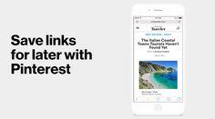 Save links for later on Pinterest | Pinterest Blog