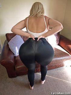 hot arse in thong leotard under sheer lycra leggings - Lycra Ass