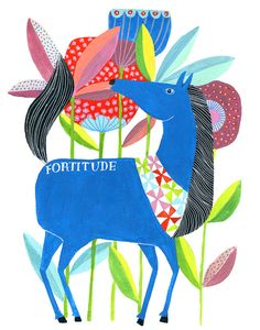 Fortitude Archival Print by Lisa Congdon