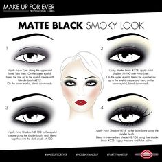 Matte Black Smoky Look from #MAKEUPFOREVER. #HolidayMakeup #PartyMakeup