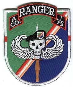 Ranger Regiment & Battalions Pocket Patches A Company, 1st Battalion 75th Ranger Regiment