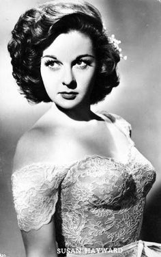 Susan Hayward (June 30, 1917 – March 14, 1975) was an American actress. After working as a fashion model in New York, Hayward travelled to Hollywood in 1937. She secured a film contract, and played several small supporting roles over the next few years. Her career continued successfully through the 1950s and she won the Academy Award for Best Actress for her portrayal of death row inmate Barbara Graham in I Want to Live! (1958). She died in 1975 of brain cancer.
