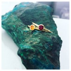 Garnet Ring, Garnet Engagement Ring, Citrine Ring, 18K Gold Ring, Stackable Rings, Garnet Birthstone Rings, Delicate Gold Rings, Boho Style
