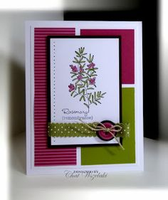 Me, My Stamps and I: Herb Expressions