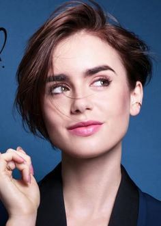 Lily Collins: Lancome Promo Shoot-17