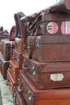 I love beautiful old style suitcases. They tell much more of a story than modern ones do.